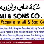 Huge Job Vacancies in Ali & Sons Company LLC@Abu Dhabi,UAE