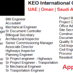 Latest Job Vacancies in KEO International 2017 | Any Graduate/ Any Degree / Diploma / ITI |Btech | MBA | +2 | Post Graduates | Abu Dhabi,Dubai,Saudi Arabia,Qatar,UAE,Oman