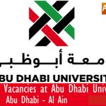 Huge Latest Job Vacancies in Abu Dhabi University