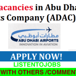 Latest Job Vacancies in Abu Dhabi Airports @Abu Dhabi