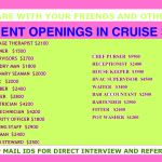 URGENT RECRUITMENT IN CRUISE SHIP |IMMEDIATE JOINING|GOOD SALARY