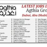 Latest Job Vacancies in Agthia Group |  Any Graduate/ Any Degree / Diploma / ITI |Btech | MBA | +2 | Post Graduates  | UAE ,Abu Dhabi , Al Ain