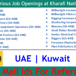 Latest Job Vacancies in Kharafi National | Any Graduate/ Any Degree / Diploma / ITI |Btech | MBA | +2 | Post Graduates | UAE,Kuwait