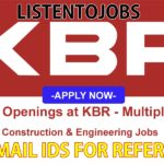 Latest Job Vacancies in KBR Group 2020 | Any Graduate/ Any Degree / Diploma / ITI |Btech | MBA | +2 | Post Graduates | UAE,Saudi Arabia,Qatar