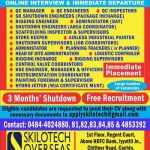 URGENTLY RECRUITMENT FOR A SHUTDOWN PROJECT 2020| QATAR | 3 MONTH | APPLY ASAP