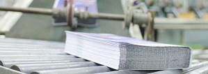 Gebündelte Seiten in der Offset-Druckerei