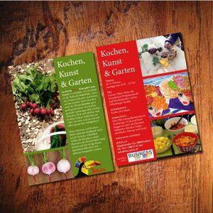 Flyer DIN A5 Kinderfest im Garten