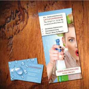 Flyer und Visitenkarten Gebäudereinigung