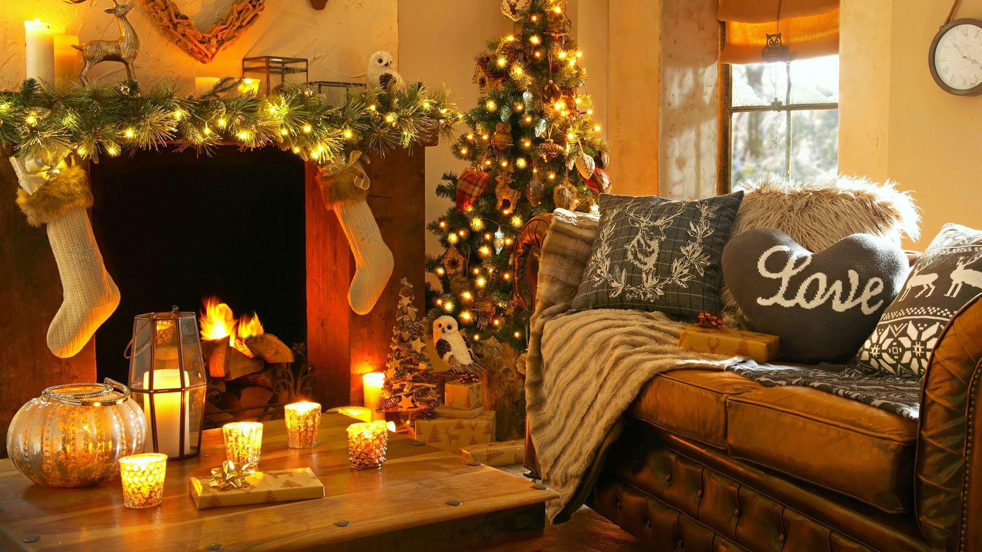 Christmas Interiors Decoration Hd Wallpaper