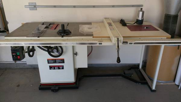 Jet Table Saw Router Extension