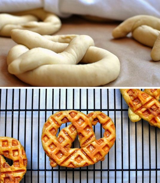 23 Things You Can Cook In A Waffle Iron | Waffle Iron Soft Pretzel