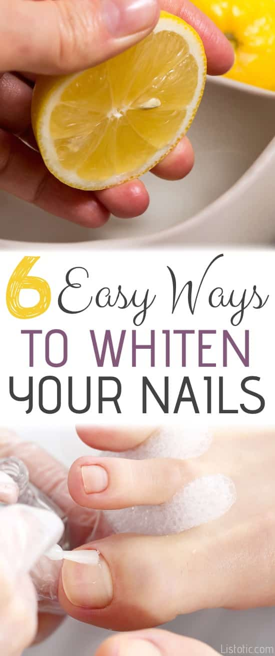 20 Of The Best Hair Tips You Ll Ever Read Beauty How To Whiten Your Nails And Toenails At Home With These 6 Diy