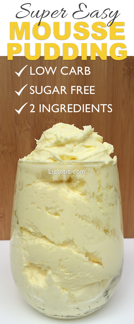 low carb, sugar free dessert pudding! | Listotic.com