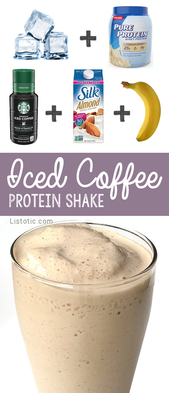 Healthy Iced Coffee Breakfast Protein Shake Recipe For Weight Loss | Listotic.com