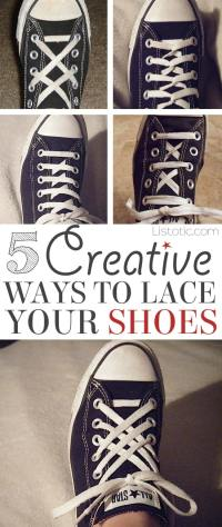 5 Cool Ways To Tie Your Shoes (easy & fun!)