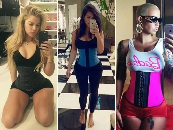Kim Kardashian and her sisters have revealed they usewaist cinchers