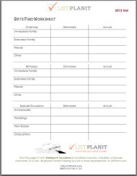 Financial Planning Worksheets. retirement financial ...