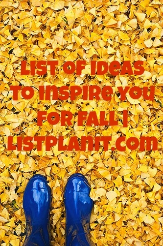 list of ideas to inspire you for fall | ListPlanIt.com