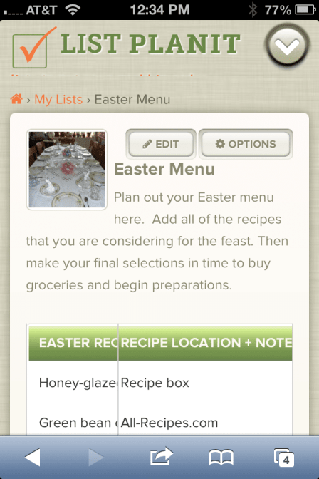 List of Recipes to Inspire your Easter Menu | ListPlanIt.com