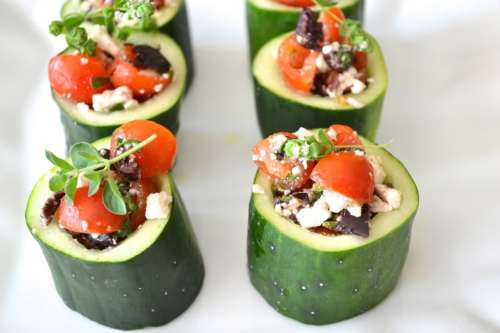 Summer appetizer: Greek style cucumber cups | ListPlanIt.com