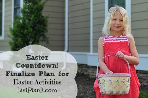 Easter Countdown!  Finalize Plan for Easter Activities | ListPlanIt.com