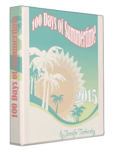 100 Days of Summertime 2015 Binder