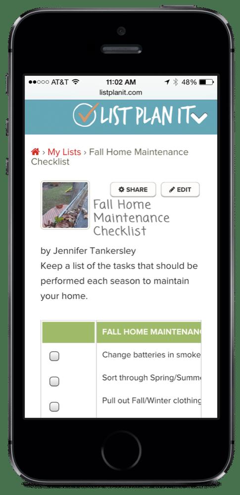 list spotlight fall home maintenance checklist. Black Bedroom Furniture Sets. Home Design Ideas