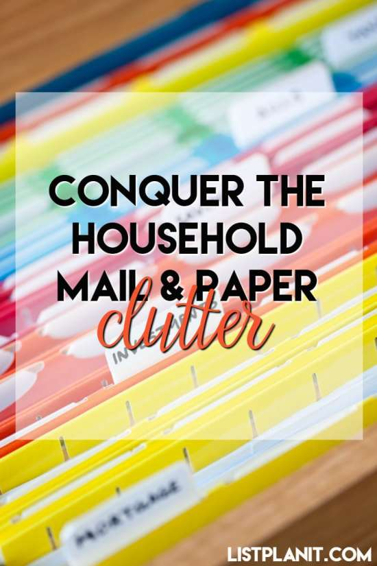 Conquer the Household Mail and Paper Clutter