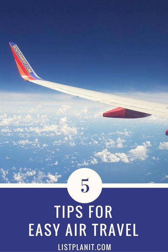 5 tips for easy air travel | ListPlanIt.com
