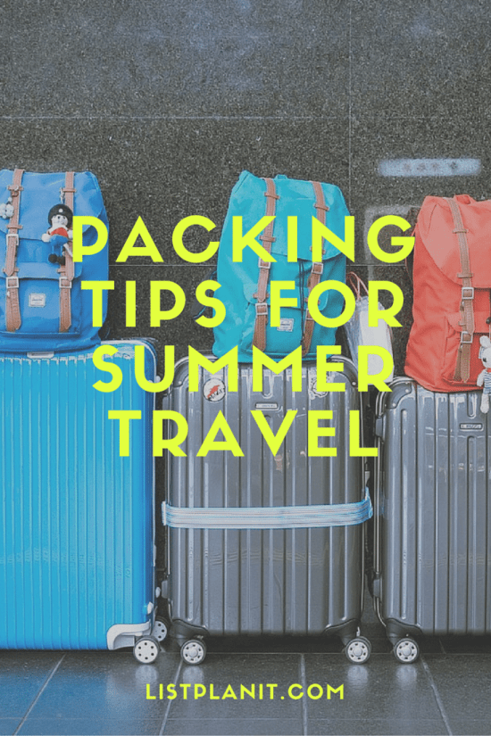 Packing Tips for Summer Travel