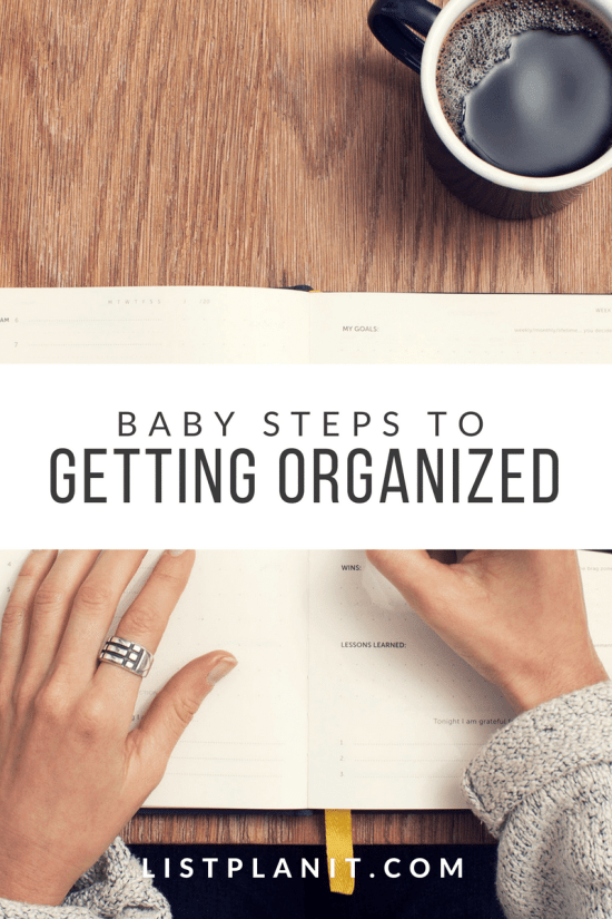 Baby Steps to Getting Organized