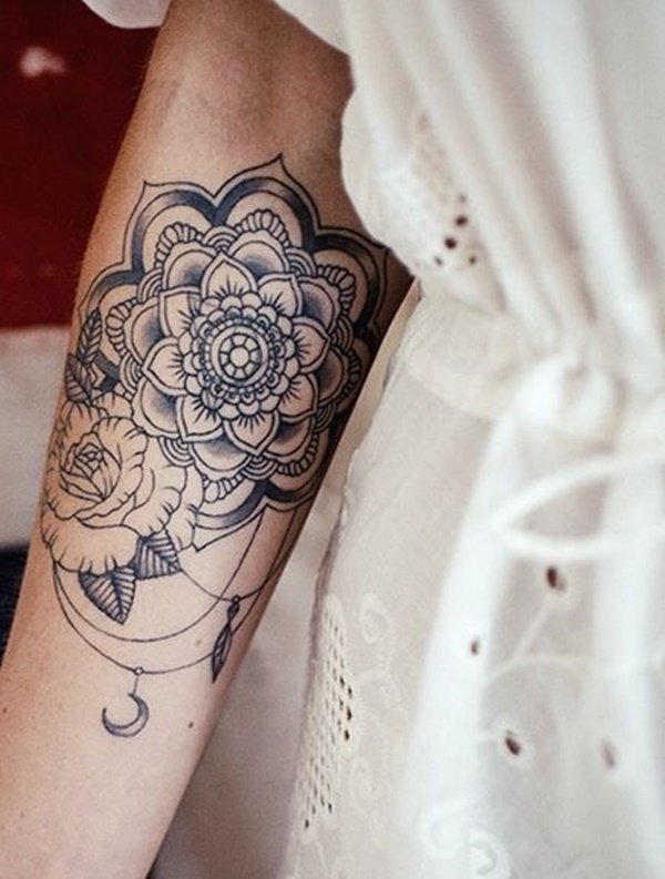 Forearm Tattoos For Women Mandala