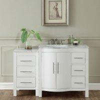 54 inch Single Sink Contemporary Bathroom Vanity Cabinet ...
