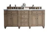 72 inch Traditional Double Sink Bathroom Vanity ...