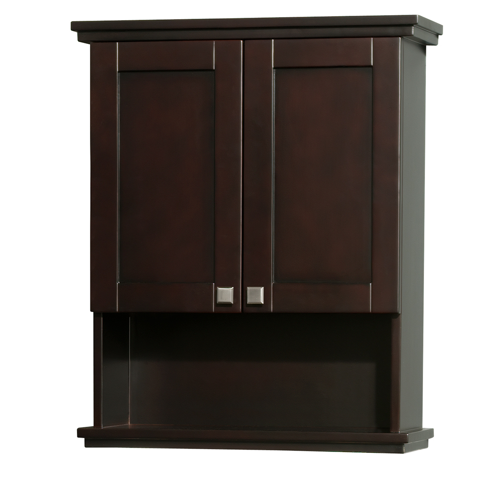 Acclaim Wall bathroom Cabinet Espresso Finish, Wall Mount