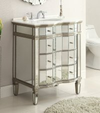 Adelina 30 inch Mirrored Bath Vanity Cabinet & Mirror