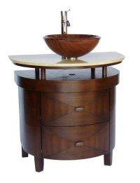 Adelina 32 inch Contemporary Vessel Sink Bathroom Vanity ...