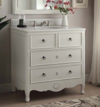 Adelina 34 inch Vintage Bathroom Vanity Distressed Antique ...