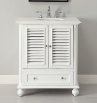 Adelina 30 inch Cottage White Finish Bathroom Vanity ...