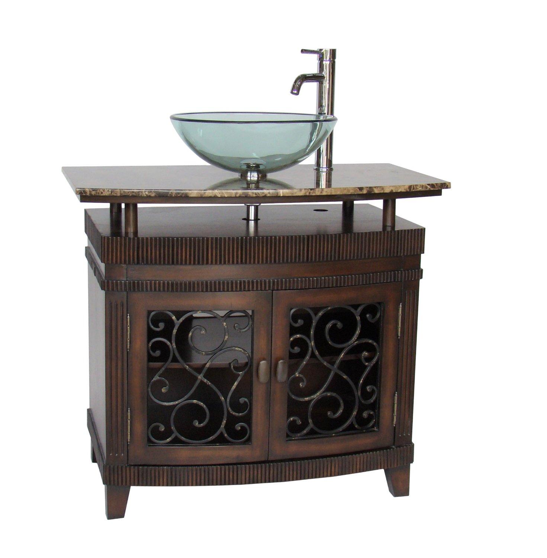 36 inch vessel sink bathroom vanity