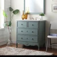 Adelina 34 inch Vintage Bathroom Vanity, Vintage Mint Blue ...