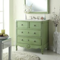 Adelina 34 inch Vintage Bathroom Vanity Vintage Mint Green ...