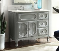 Adelina 42 inch Antique Cottage Bathroom Vanity Grey ...