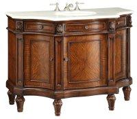 Adelina 47 inch Antique Bathroom Vanity White Marble Top