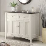 Adelina 48 75 Inch Antique White Sink Bathroom Vanity Black Galaxy Granite Counter Top