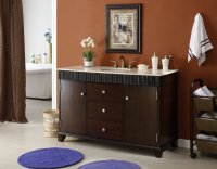 Adelina 54 inch Contemporary Style Bathroom Vanity, Cream ...