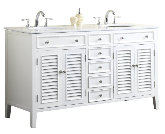 adelina 60 inch antique white double sink bathroom vanity marble top