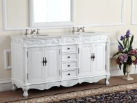 Antique White Bathroom Cabinet | Antique Furniture