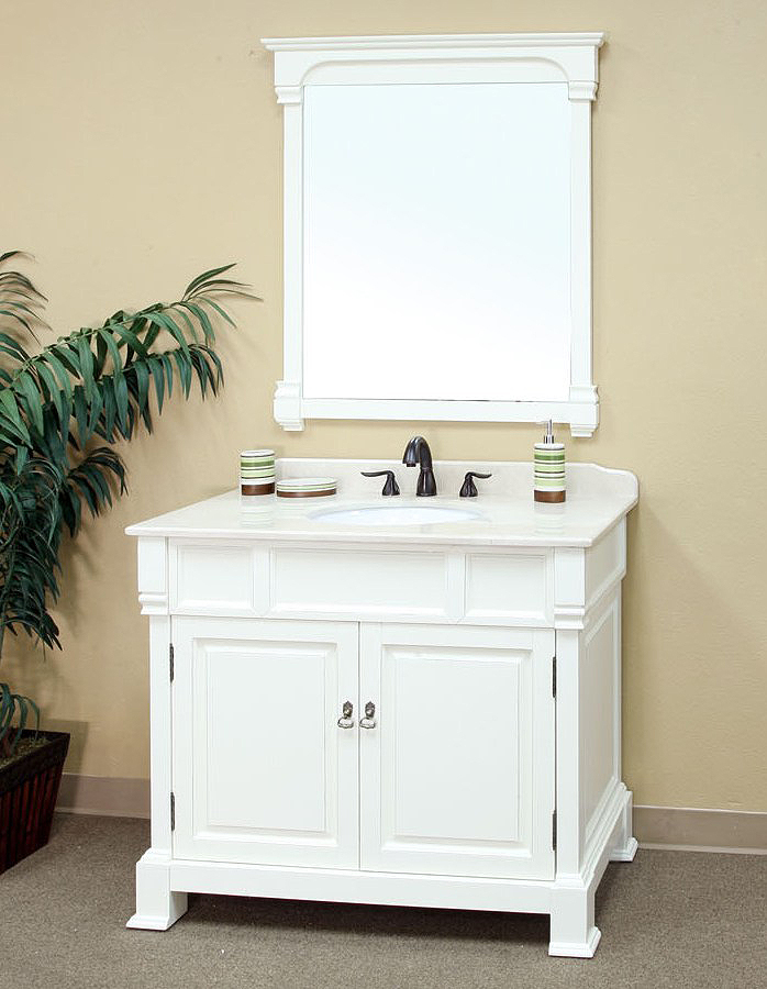 Bellaterra Home 205042 A White Bathroom Vanity Antique