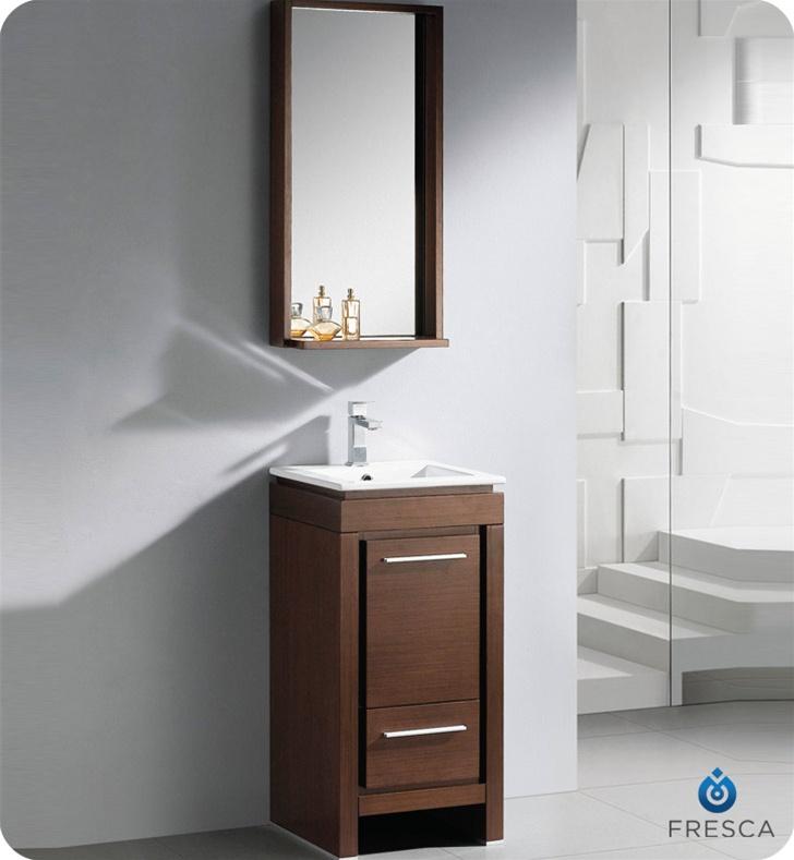 16 Small Modern Bathroom Vanity Wenge Finish